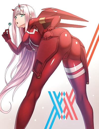 manga Darling in The Franxx Collection -.., hiro , zero two , big breasts , bodysuit