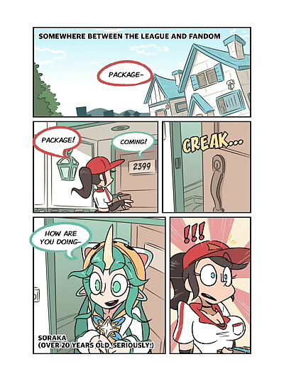 english manga Soraka and the Void banana!, soraka , full color , manga