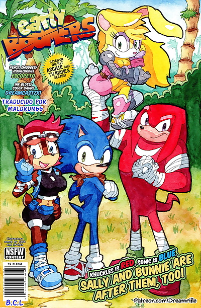 manga Early Boomers, sonic the hedgehog , sally acorn , full color , furry