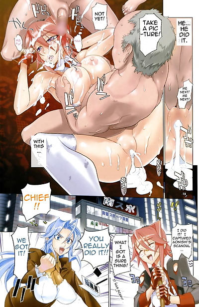 english manga Nansupo, big breasts , full color  bukkake
