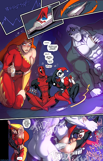manga Crazy Insane Sex, harley quinn , robin , full color , nakadashi  double-penetration